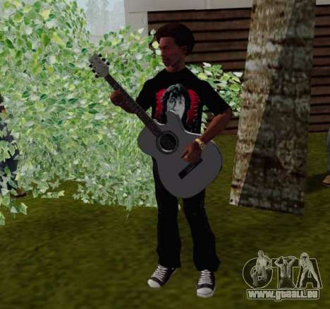 T-shirt c Viktor Tsoi pour GTA San Andreas quatrième écran