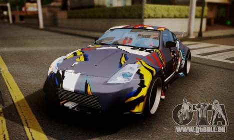 Nissan 350z Angel Beast Itasha Edition für GTA San Andreas Seitenansicht