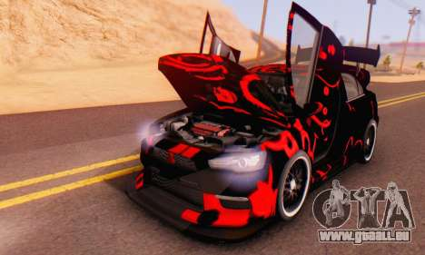 Mitsubishi Lancer EVO X Abstraction pour GTA San Andreas vue intérieure