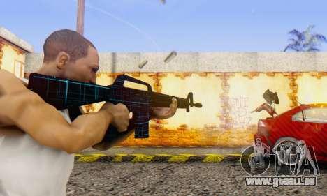 Abstract M16 pour GTA San Andreas deuxième écran