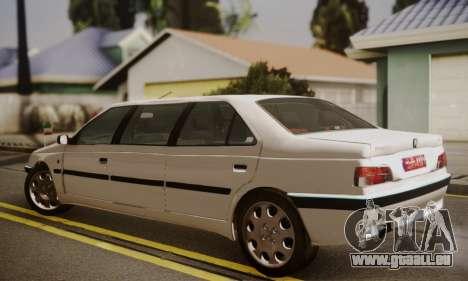 Peugeot Pars Limouzine pour GTA San Andreas laissé vue
