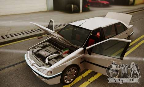 Peugeot Pars Limouzine pour GTA San Andreas vue de dessus
