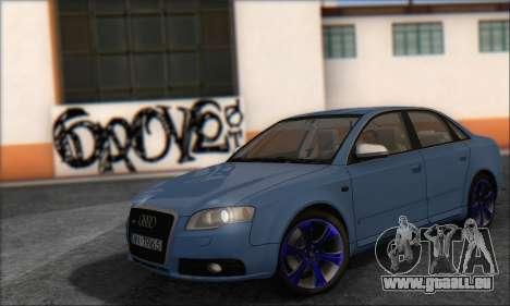 Audi S4 4.0 Quattro 2006 pour GTA San Andreas
