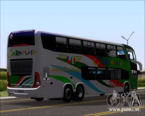Marcopolo Paradiso G7 1800 DD 6x2 Scania K420 pour GTA San Andreas vue arrière