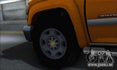 Chevrolet Colorado Cleaning für GTA San Andreas Innenansicht