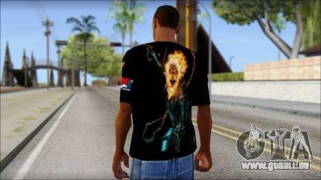 Ghost Rider T-Shirt für GTA San Andreas zweiten Screenshot