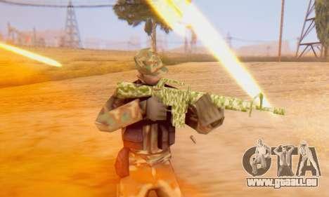 Camo M16 pour GTA San Andreas cinquième écran