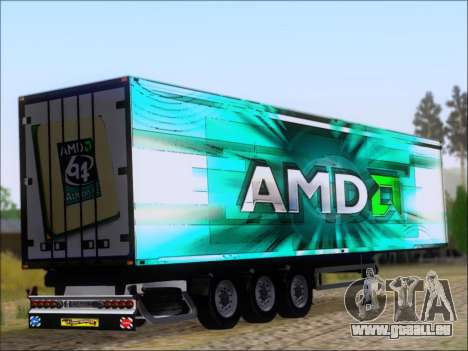 Remorque AMD Athlon 64 X2 pour GTA San Andreas vue de droite