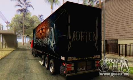Remorque Chereau Morton Bande 2014 pour GTA San Andreas sur la vue arrière gauche