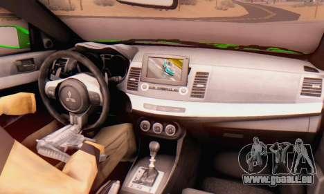 Mitsubishi Lancer Evolution X Metalhead pour GTA San Andreas vue de droite