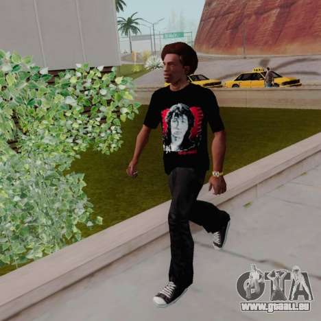T-shirt c Viktor Tsoi pour GTA San Andreas