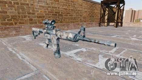 Automatische Karabiner MA Geschmolzen snow Camo für GTA 4