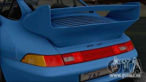 Porsche 911 GT2 (993) 1995 V1.0 SA Plate für GTA San Andreas Unteransicht