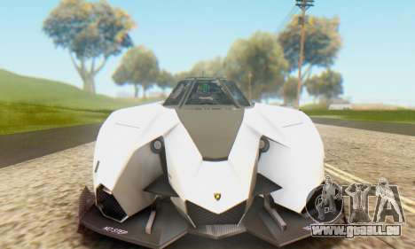 Lamborghini Egoista Concept 2013 für GTA San Andreas zurück linke Ansicht