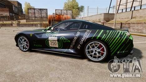 Ferrari 599 GTO PJ1 pour GTA 4 est une gauche