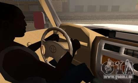 Toyota Land Cruiser LC 70 pour GTA San Andreas sur la vue arrière gauche