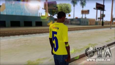 T-Shirt Colombia pour GTA San Andreas deuxième écran