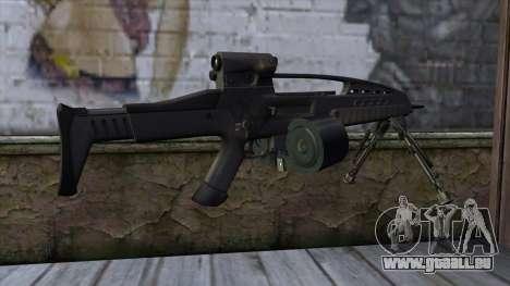 XM8 LMG Black für GTA San Andreas zweiten Screenshot