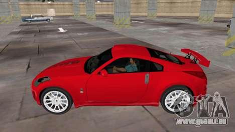 Nissan 350z Tuned pour GTA Vice City sur la vue arrière gauche