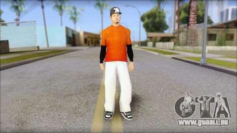 Polera Naranja con Gorro pour GTA San Andreas