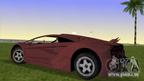 Zentorno from GTA 5 für GTA Vice City linke Ansicht