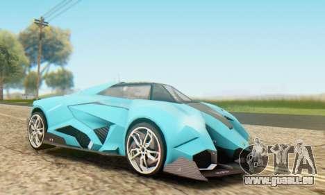 Lamborghini Egoista Concept 2013 pour GTA San Andreas laissé vue