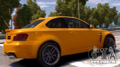 BMW 1M für GTA 4 hinten links Ansicht