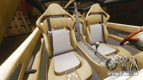 Spyker D8 pour GTA 4 est une vue de l'intérieur
