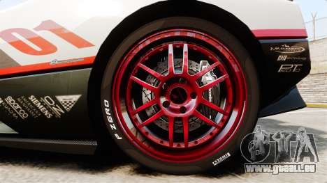 Pagani Zonda C12S Roadster 2001 v1.1 PJ4 für GTA 4 Rückansicht