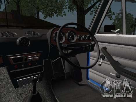 VAZ 21061 pour GTA San Andreas vue intérieure