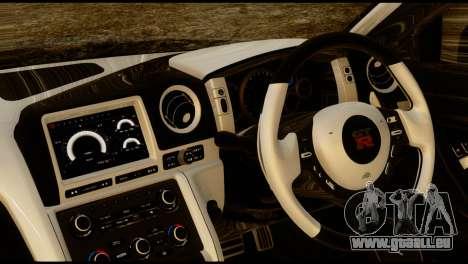 Nissan GT-R V2.0 pour GTA San Andreas sur la vue arrière gauche