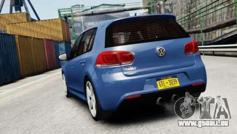 Volkswagen Golf R 2010 pour GTA 4 Vue arrière de la gauche