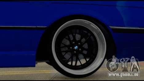 BMW 740i E38 für GTA San Andreas zurück linke Ansicht