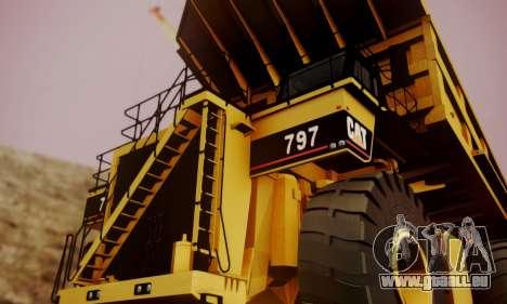 Caterpillar 797 pour GTA San Andreas vue de droite