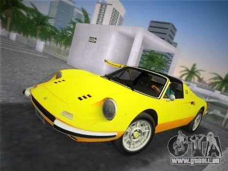 Ferrari 246 Dino GTS 1972 pour une vue GTA Vice City de la droite