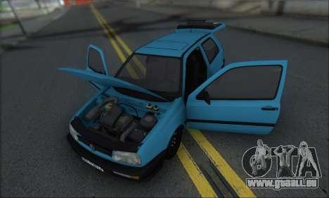 Volksvagen Golf Mk3 pour GTA San Andreas vue intérieure