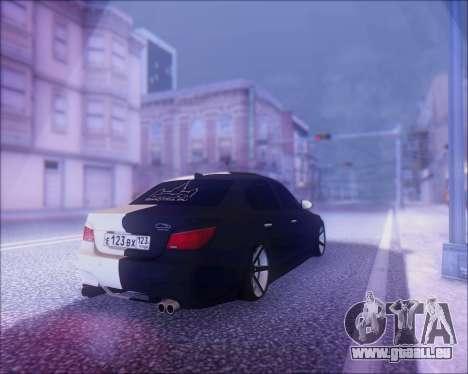BMW M5 E60 für GTA San Andreas Seitenansicht