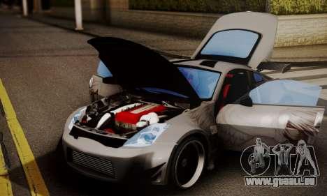 Nissan 350z Angel Beast Itasha Edition für GTA San Andreas zurück linke Ansicht