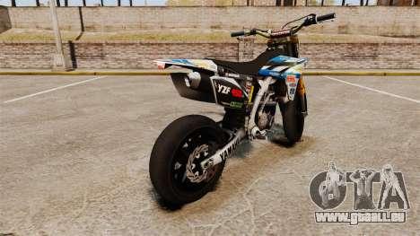 Yamaha YZF-450 v1.9 pour GTA 4 Vue arrière de la gauche