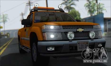 Chevrolet Colorado Cleaning für GTA San Andreas rechten Ansicht