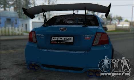 Subaru Impreza WRX STI 2010 für GTA San Andreas Innenansicht