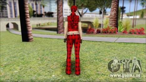 Rock Chicks Red Ped für GTA San Andreas zweiten Screenshot