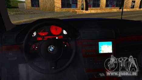 BMW 740i E38 pour GTA San Andreas vue de droite