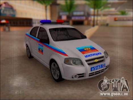 Chevrolet Aveo Polizei LNR für GTA San Andreas