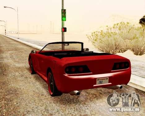 Bouffon Convertible pour GTA San Andreas sur la vue arrière gauche