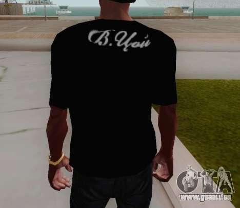 T-shirt c Viktor Tsoi für GTA San Andreas dritten Screenshot