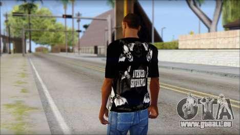 A7X Deathbats Fan T-Shirt Black pour GTA San Andreas deuxième écran