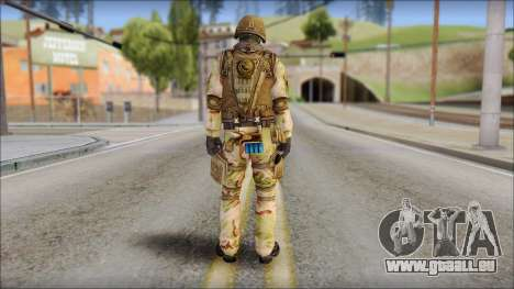 Desert GIGN from Soldier Front 2 pour GTA San Andreas deuxième écran