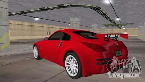 Nissan 350z Tuned für GTA Vice City linke Ansicht