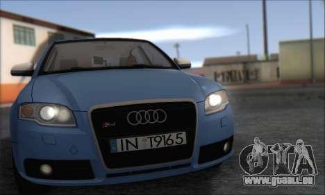 Audi S4 4.0 Quattro 2006 pour GTA San Andreas laissé vue